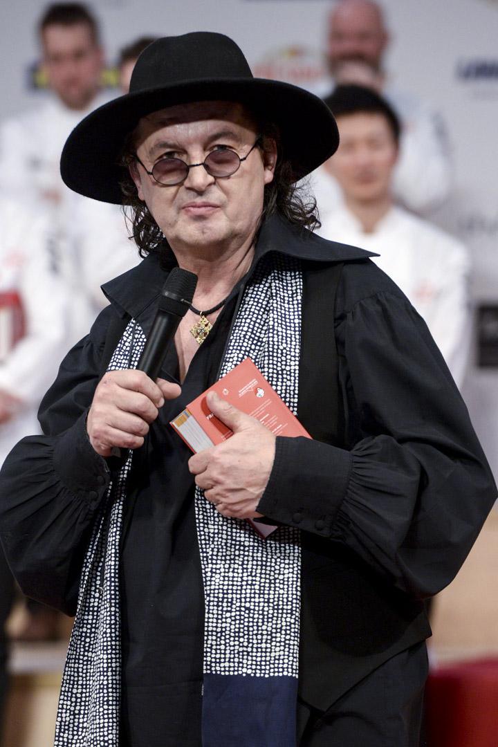 2018年2月5日,法國巴黎的米其林頒獎典禮,星級名廚維拉(Marc Veyrat)。