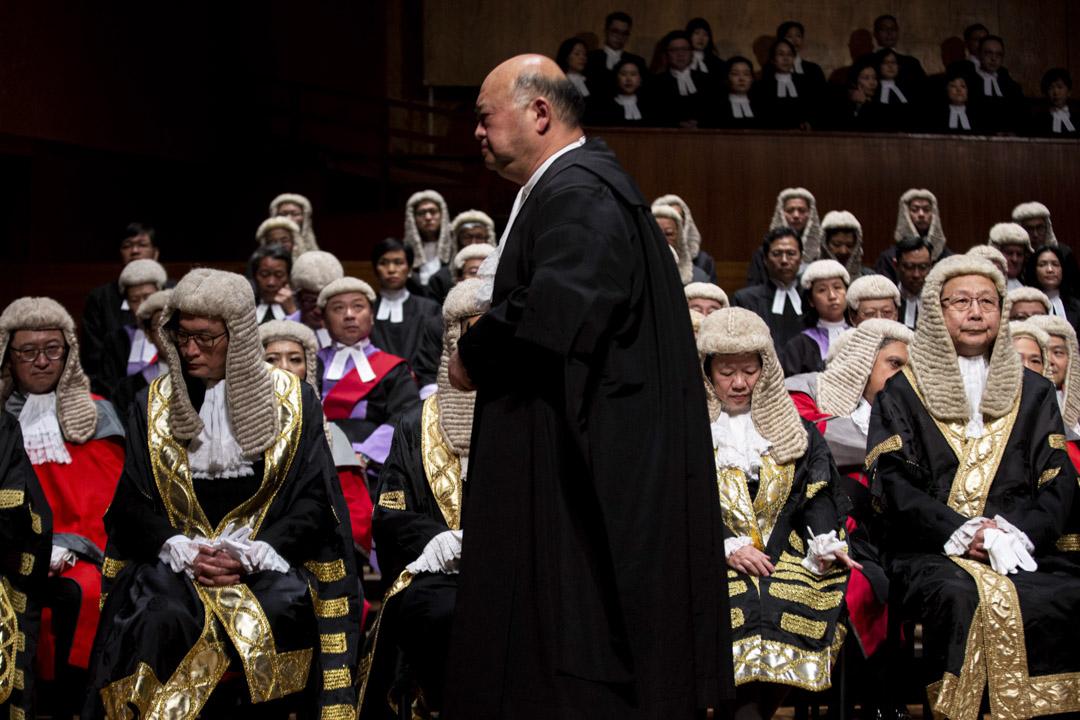 2019年1月14日,終審法院首席法官馬道立出席法律年開幕禮。