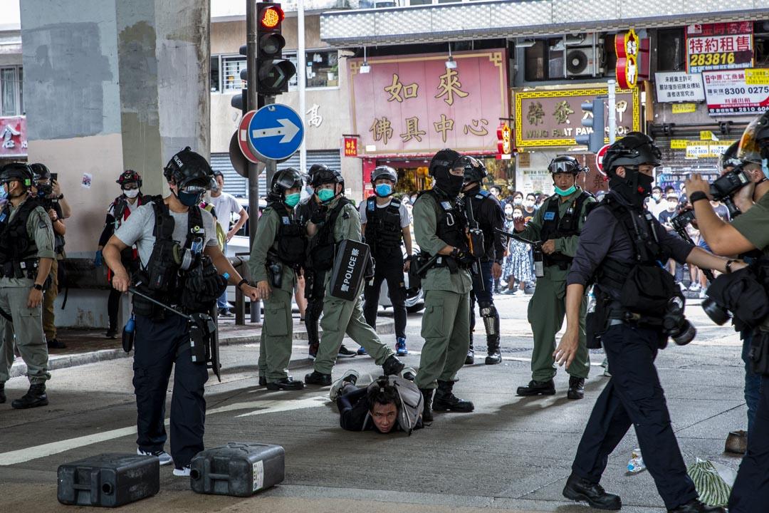 2020年7月1日,警方拘捕一名男子。