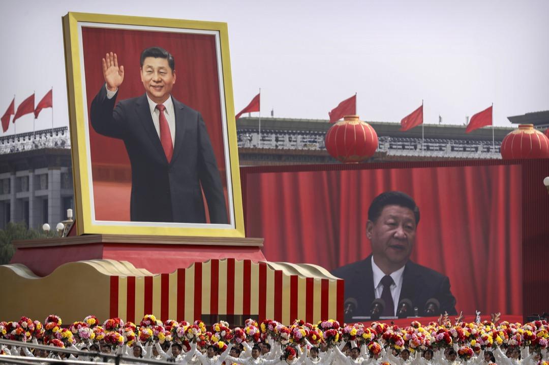 2019年10月1日,中國北京,中共建政70週年國慶閱兵巡遊。
