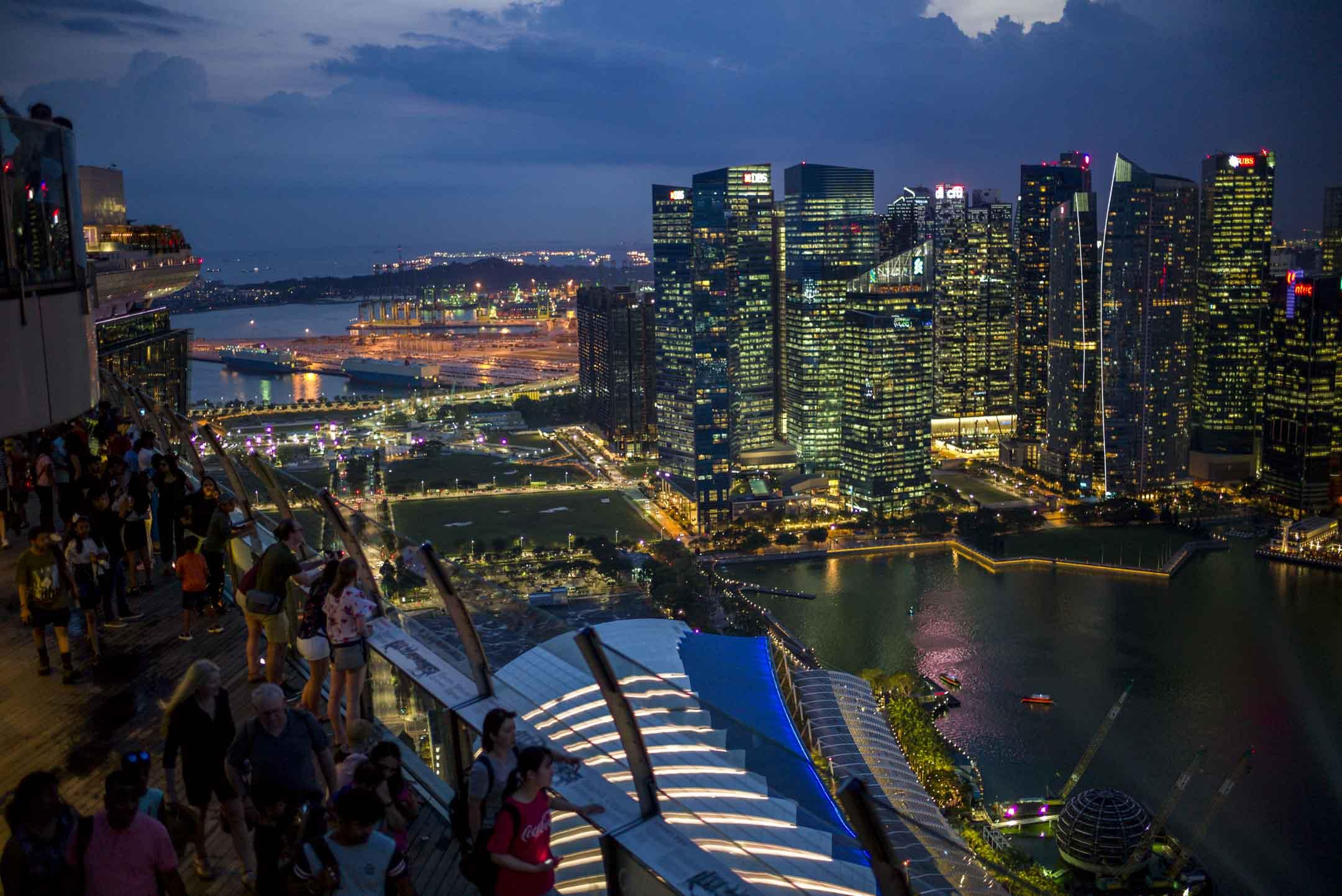 2019年4月4日,新加坡鳥瞰景觀。