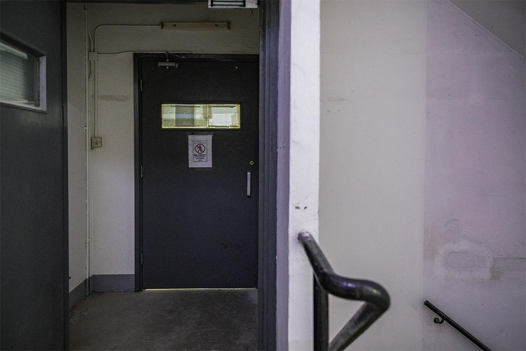 大埔太平工業園內的檢測中心門口。