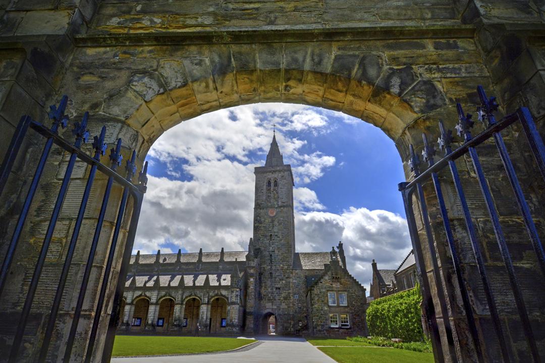 聖安德魯斯大學位於蘇格蘭東海岸古鎮聖安德魯斯,創辦於1413年。 圖片來源:Getty Images