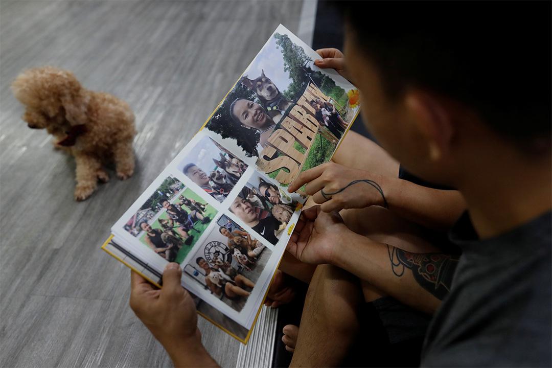 2020年6月25日,杜依蘭和湯偉雄翻閱了自己的相冊。