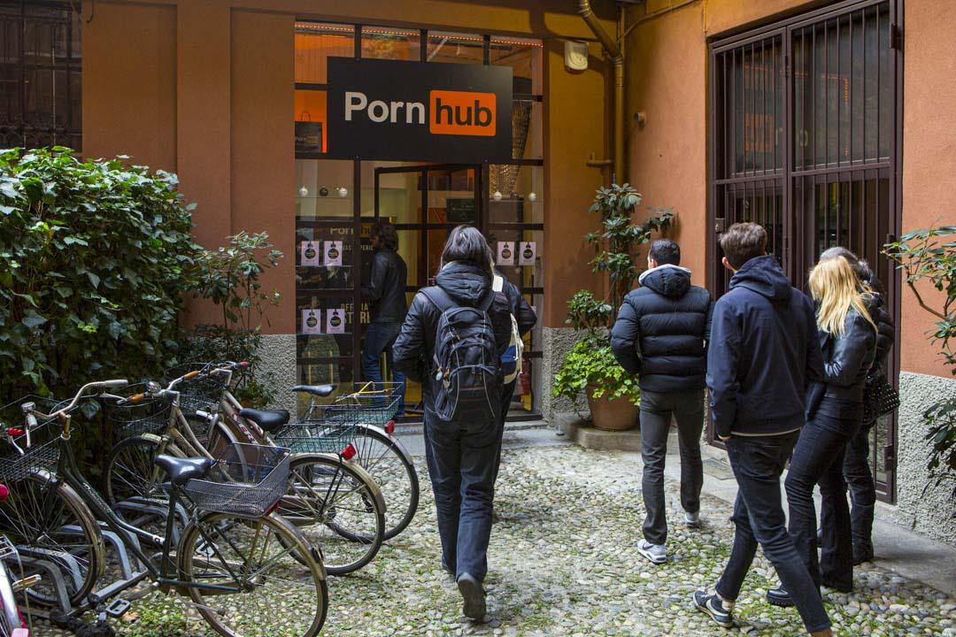 2017年12月1日,意大利米蘭的Pornhub商店營業中。
