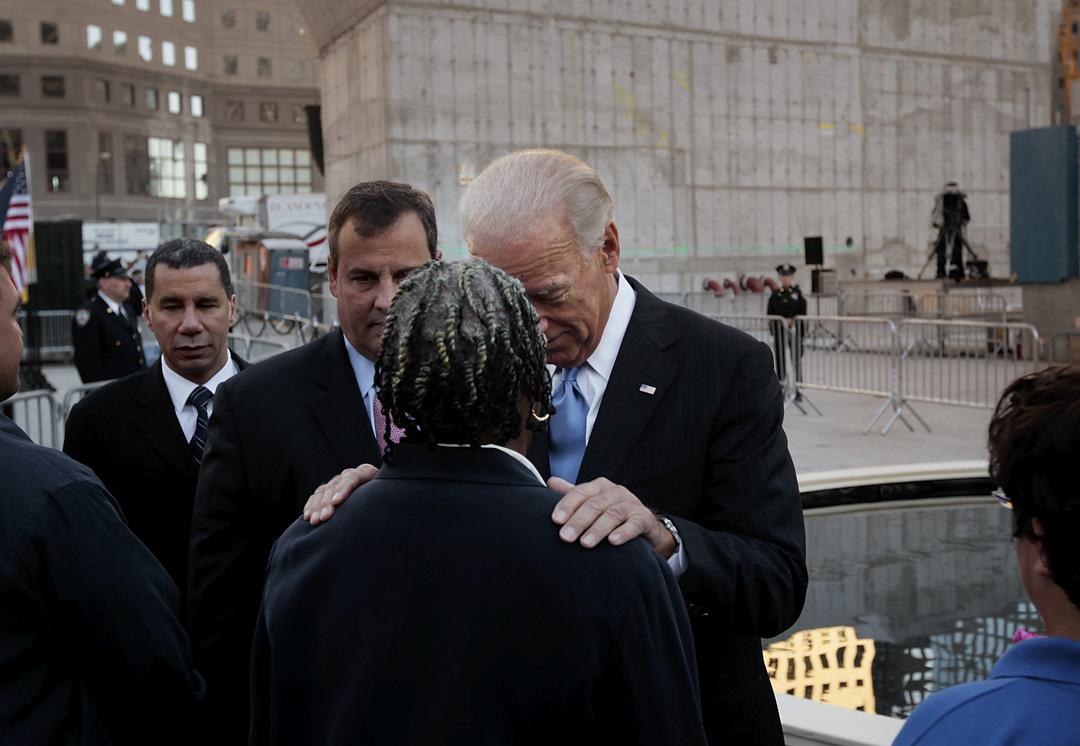 2010年9月11日,時任副總統拜登出席紐約市911追悼會。