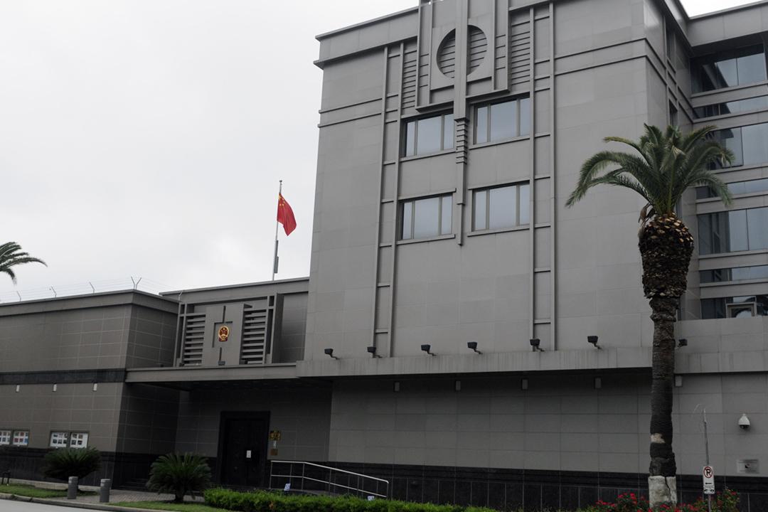 圖為中國駐美國侯斯頓總領使館。 攝:Pat Sullivan / Associated Press