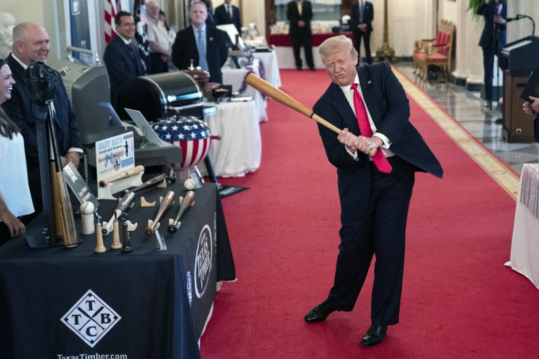 2020年7月2日,美國總統特朗普在白宮主持「美國精神」展覽。
