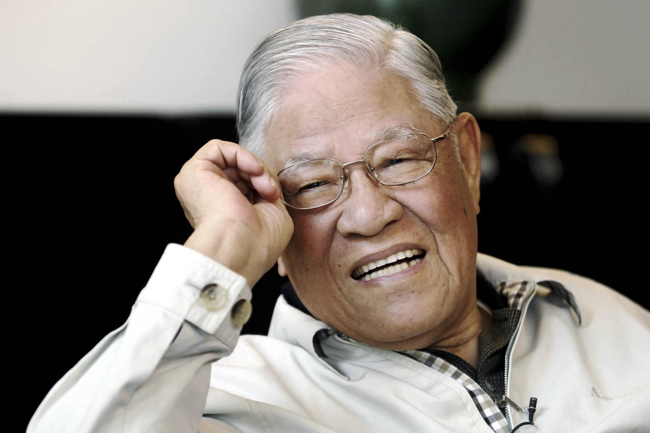 2008年5月28日,台灣前總統李登輝在他的家中接受美聯社的獨家專訪。 攝:Chiang Ying-ying/AP/達志影像