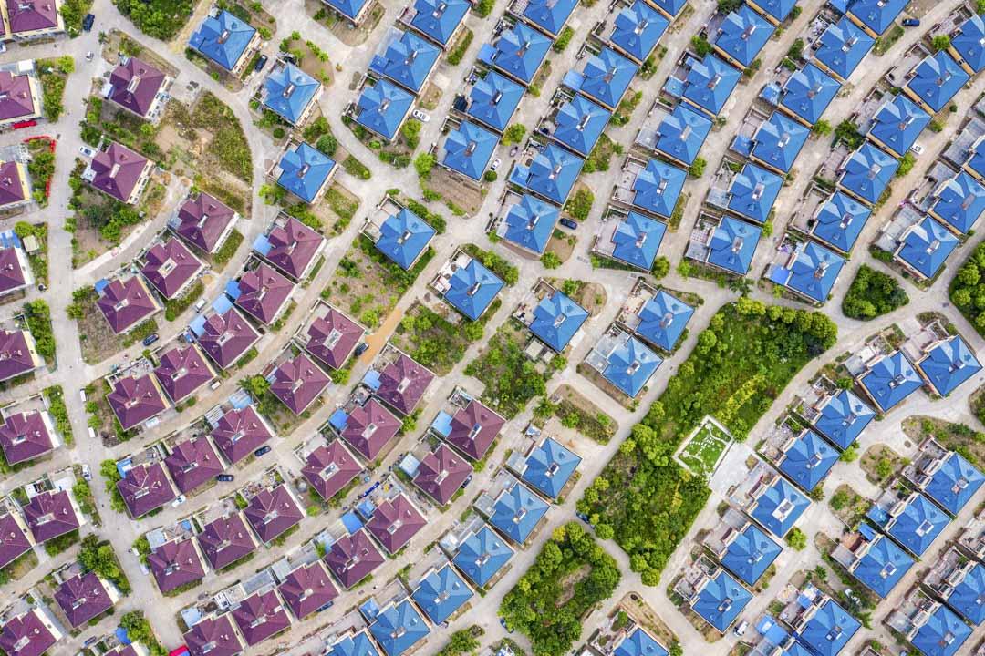 2020年5月24日,江蘇省南京市一個建設中的樓房鳥瞰圖。 攝:Zhai Huiyong/VCG via Getty Images