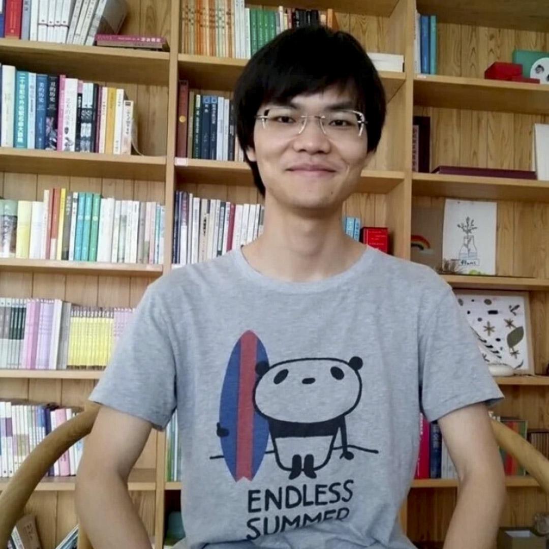 90後公益志願者蔡偉。