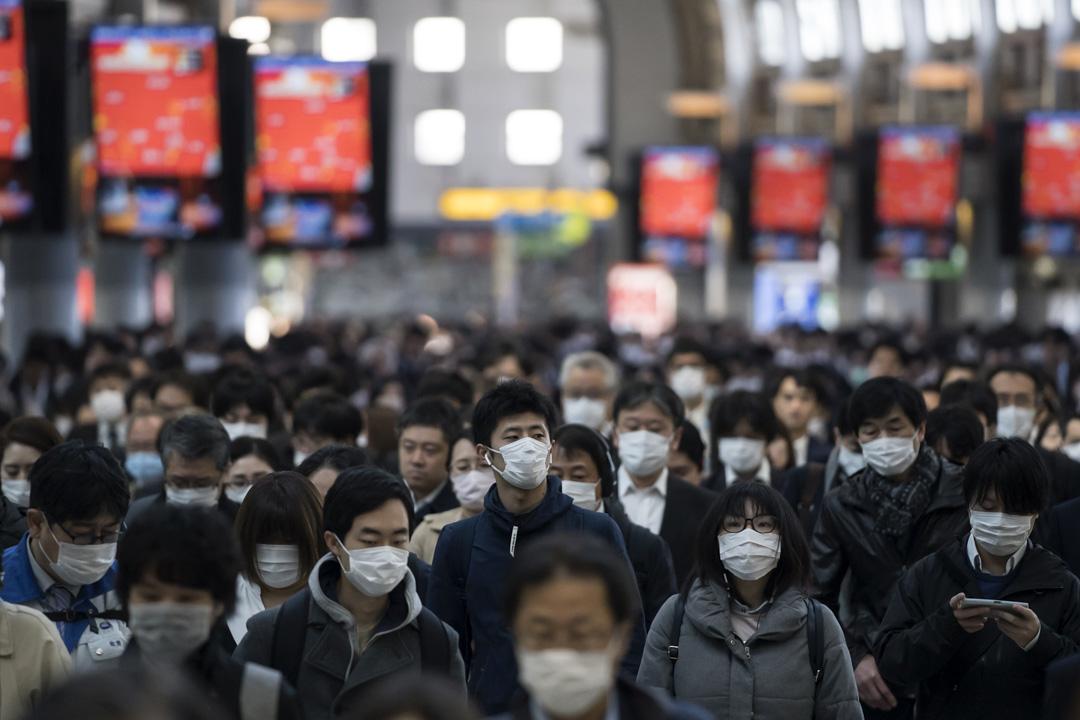2020年3月26日,日本東京的上班人士。