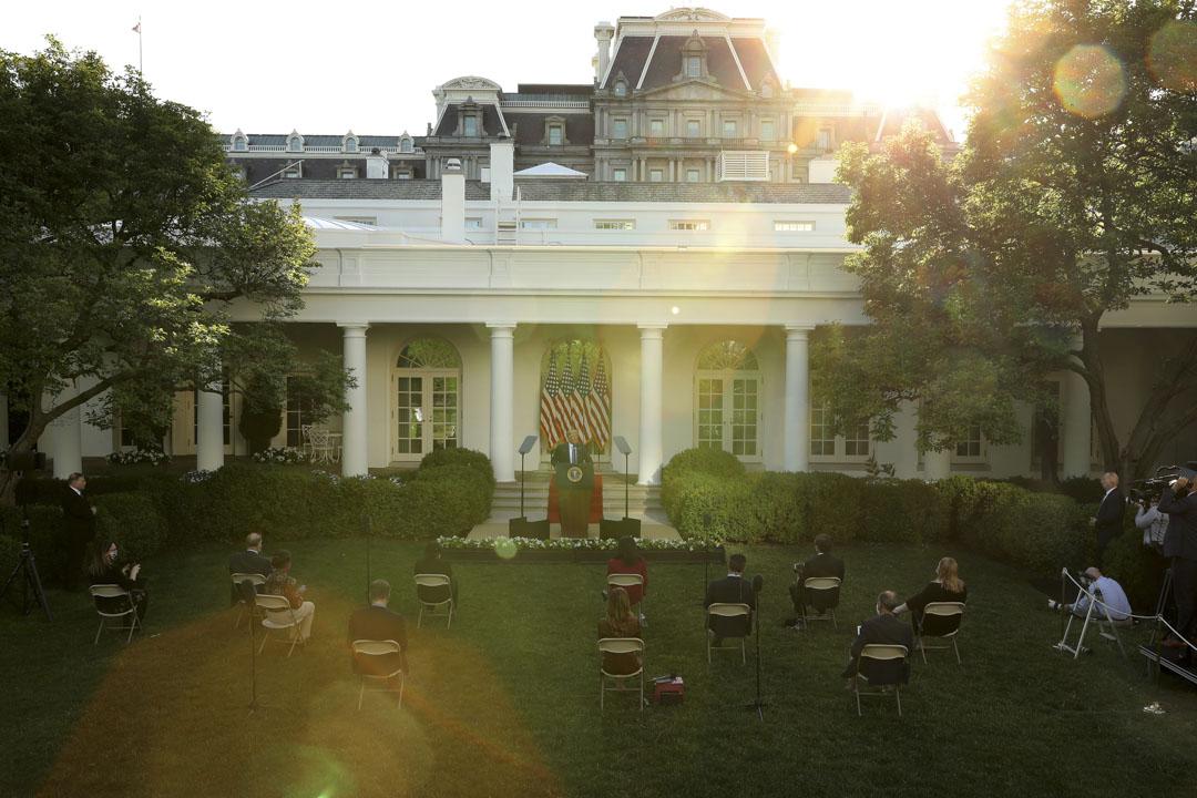 2020年6月1日,美國總統特朗普在記者會。