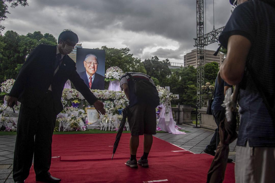 2020年8月4日,台灣已故前總統李登輝的追思會場。