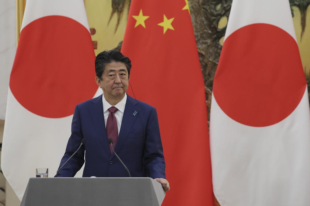 2018年10月26日,日本首相安倍晉三在人民大會堂與國務院總理李克強共同舉行新聞發布會。