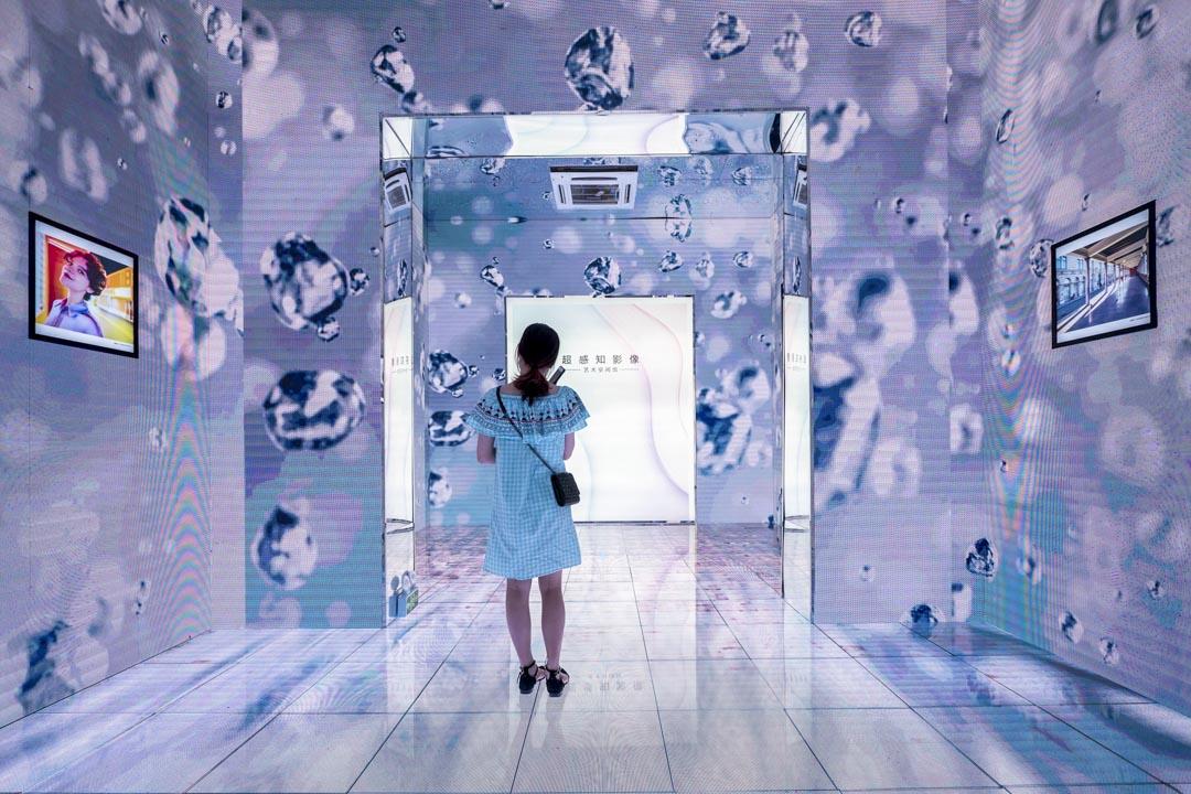 2020年6月27日,廣州華為一個展示空間在宣傳其5G的技術。