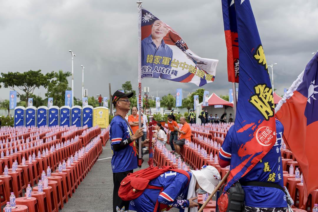2020年8月14日,李眉蓁選前之夜晚會舉行前,支持者早早到場準備。