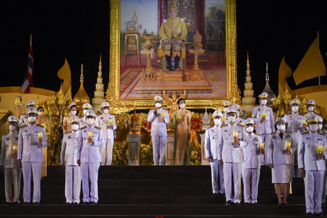 泰國總理巴育在新泰王哇集拉隆功(Maha Vajiralongkorn)誕辰68週年慶祝儀式上。