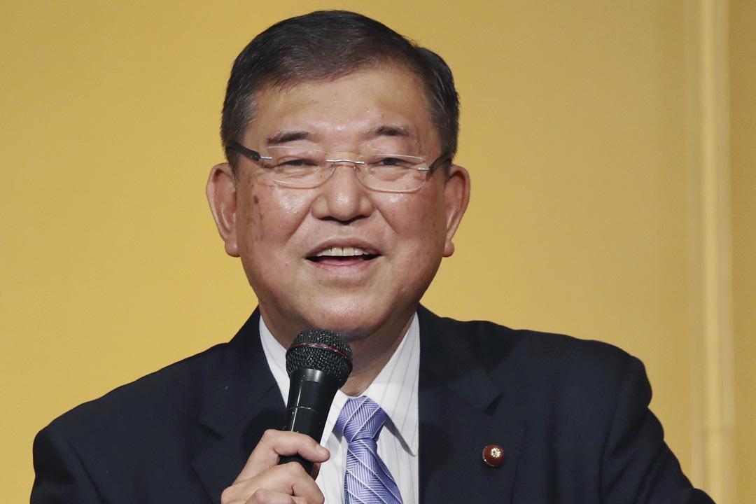 2020年8月30日,自民黨前秘書長石破茂(Shigeru Ishiba)於北海道自民黨常會上發表演講。