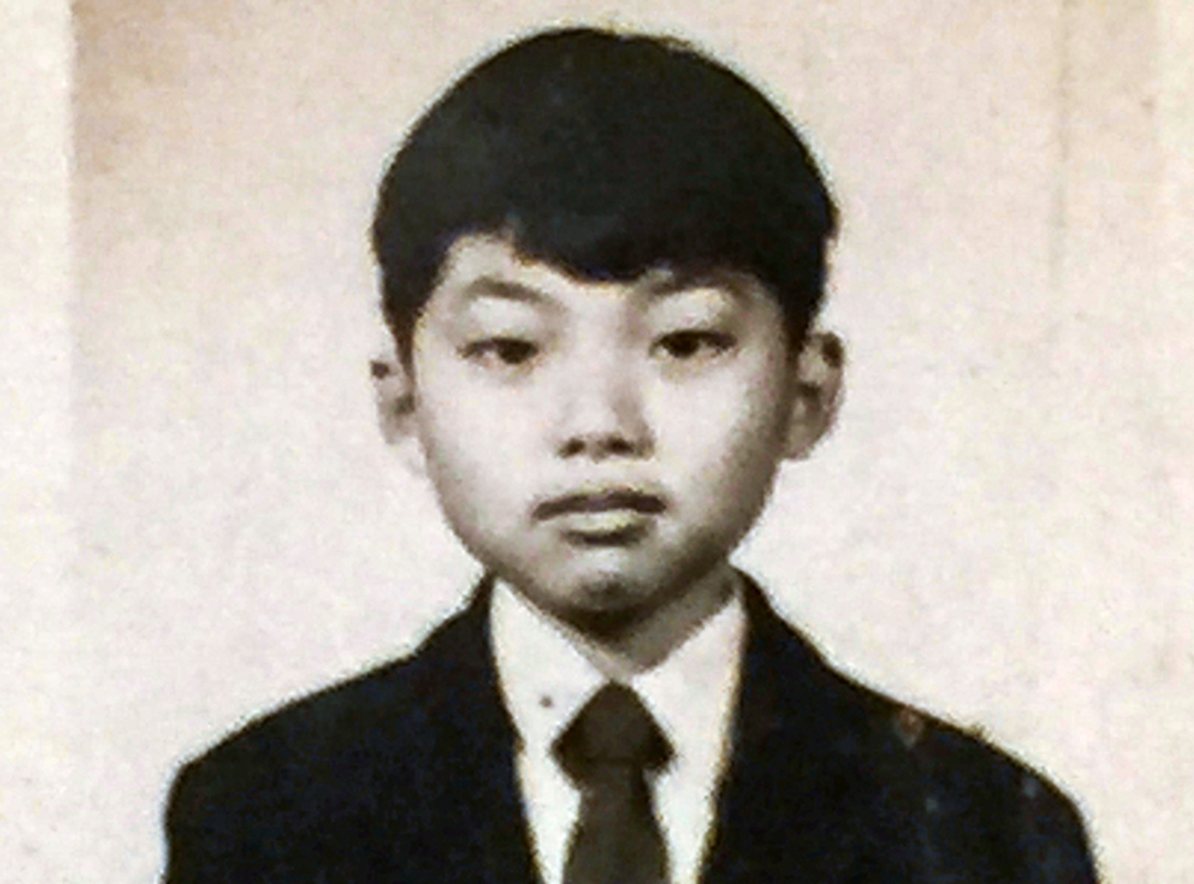 邢福增教授的小學照片。