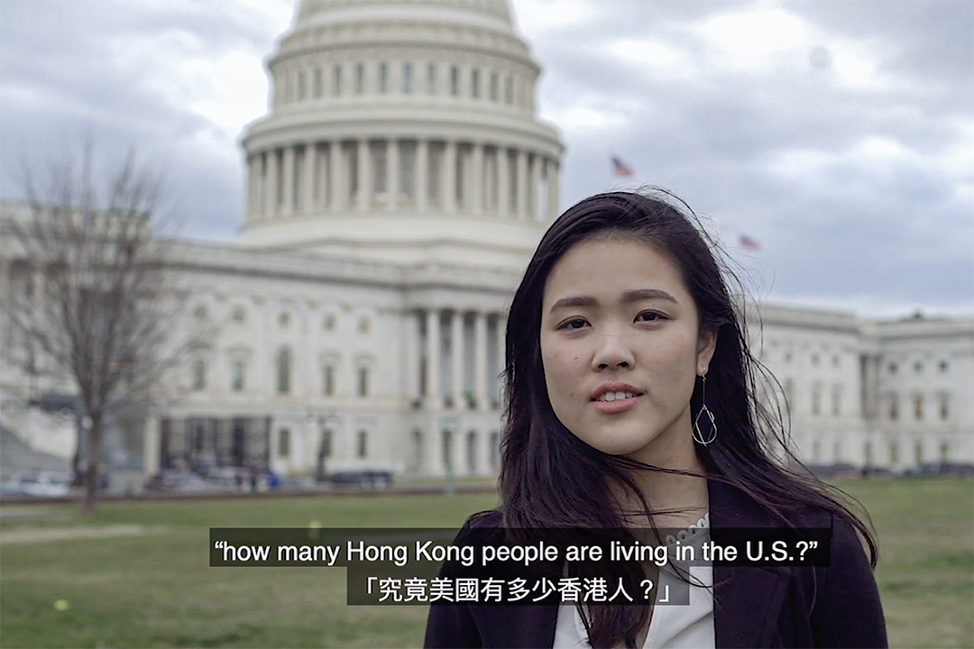 「We The Hongkongers」運動發起人許穎婷。 圖:影片截圖