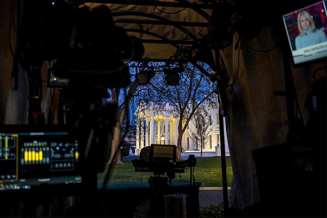 2020年3月11日美國華盛頓,總統特朗普將與白宮的華爾街高管會面時發表有關如何處理2019冠狀病毒的聲明。