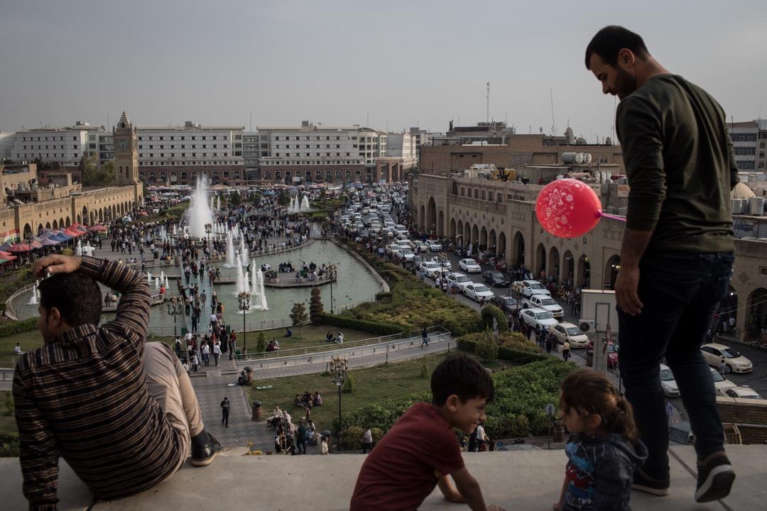 伊拉克庫伊德斯坦首都艾比爾。