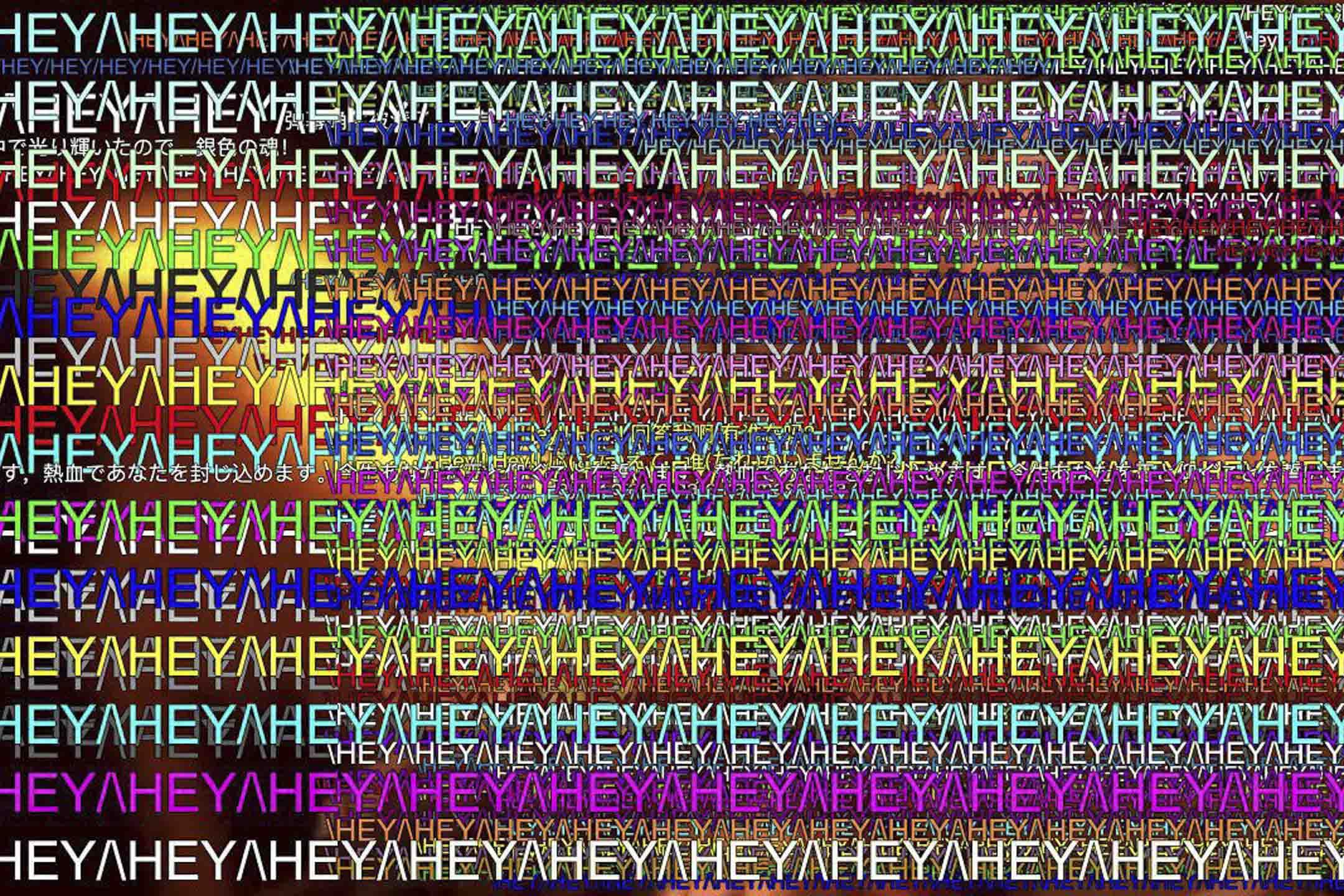 《武士之魂》「恐怖的彈幕」。副歌的歌詞以一句亢奮的「Hey!! Hey!!」開頭,彈幕裏大家齊刷刷地打出「\HEY/\HEY/」,好像演唱會現場揮舞着應援棒的粉絲,層層疊疊堆滿了屏幕。 影片截圖