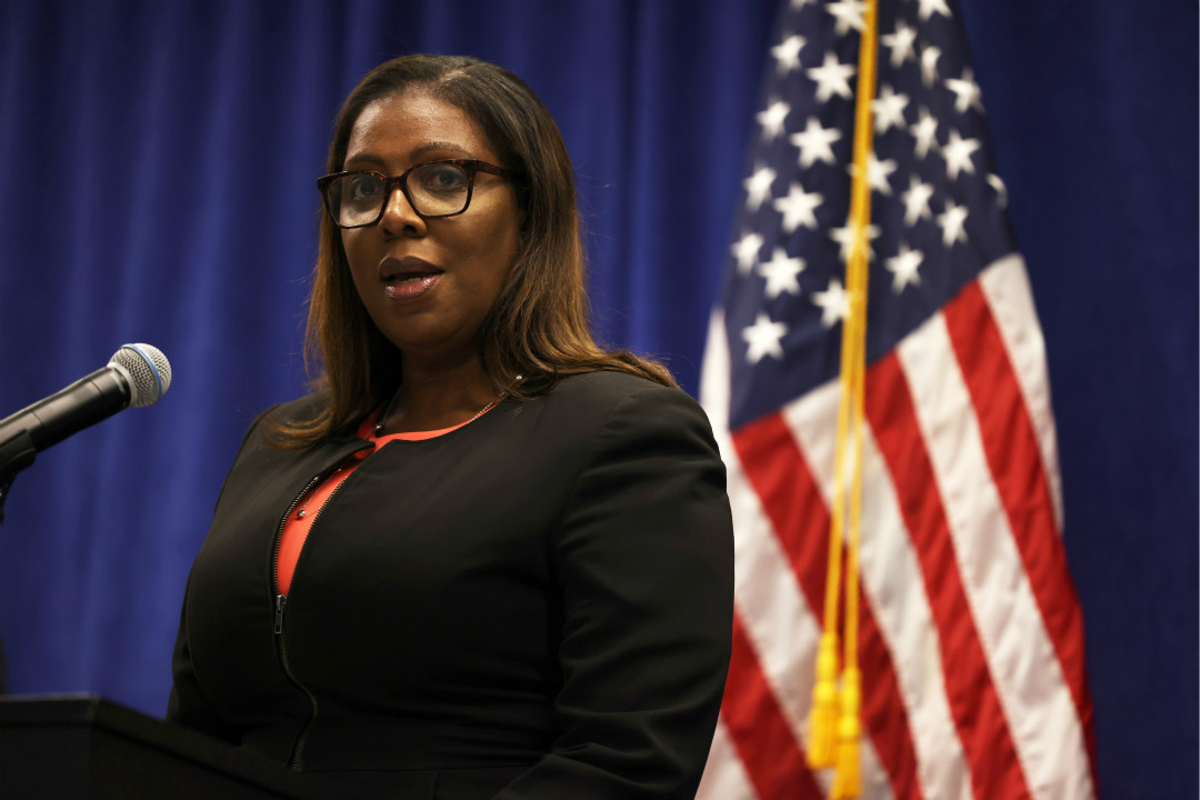 2020年8月6日,美國紐約州總檢察長萊蒂西亞·詹姆斯(Letitia James)出席記者會。 攝:Michael M. Santiago/Getty Images