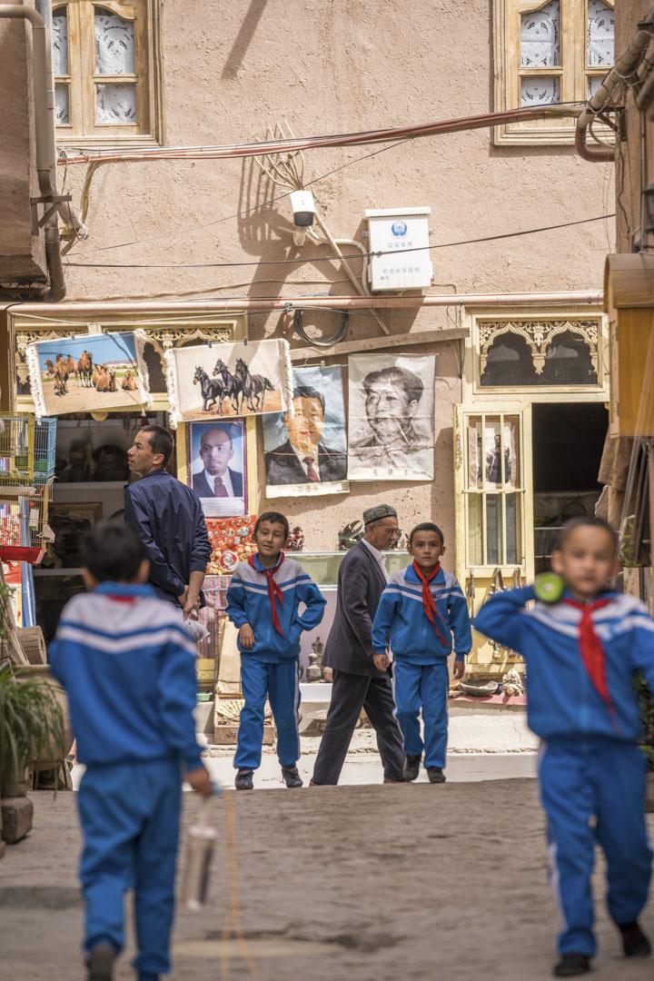 2019年4月16日,新疆喀什的小學生。