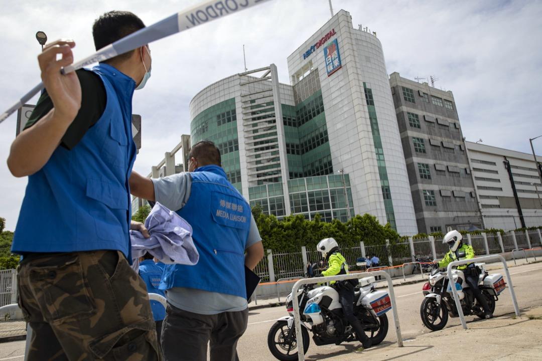 2020年8月10日,警方到壹傳媒大樓進行搜查。