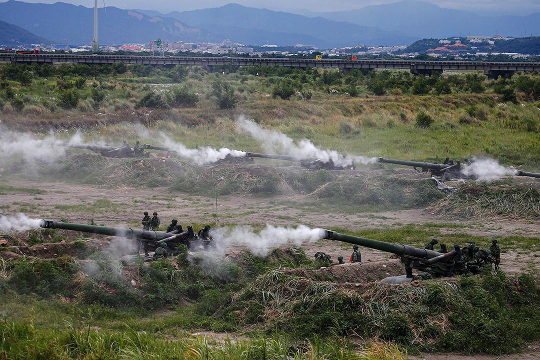 2020年7月16日,台灣軍隊在台中舉行的漢光演習期間。