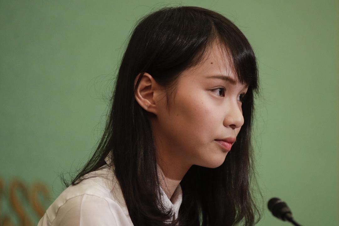 2019年6月10日,周庭在東京的日本國家新聞俱樂部舉行記者會。 攝:Jae C. Hong/AP/達志影像