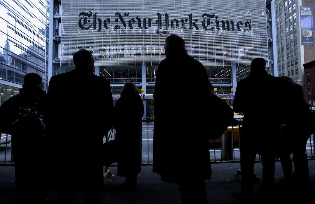 美國《紐約時報》總部。