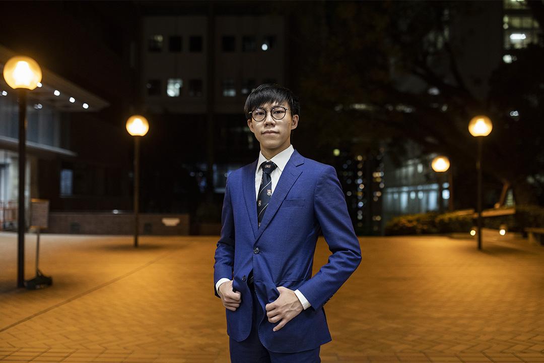 港大校委會本科生代表李梓成。