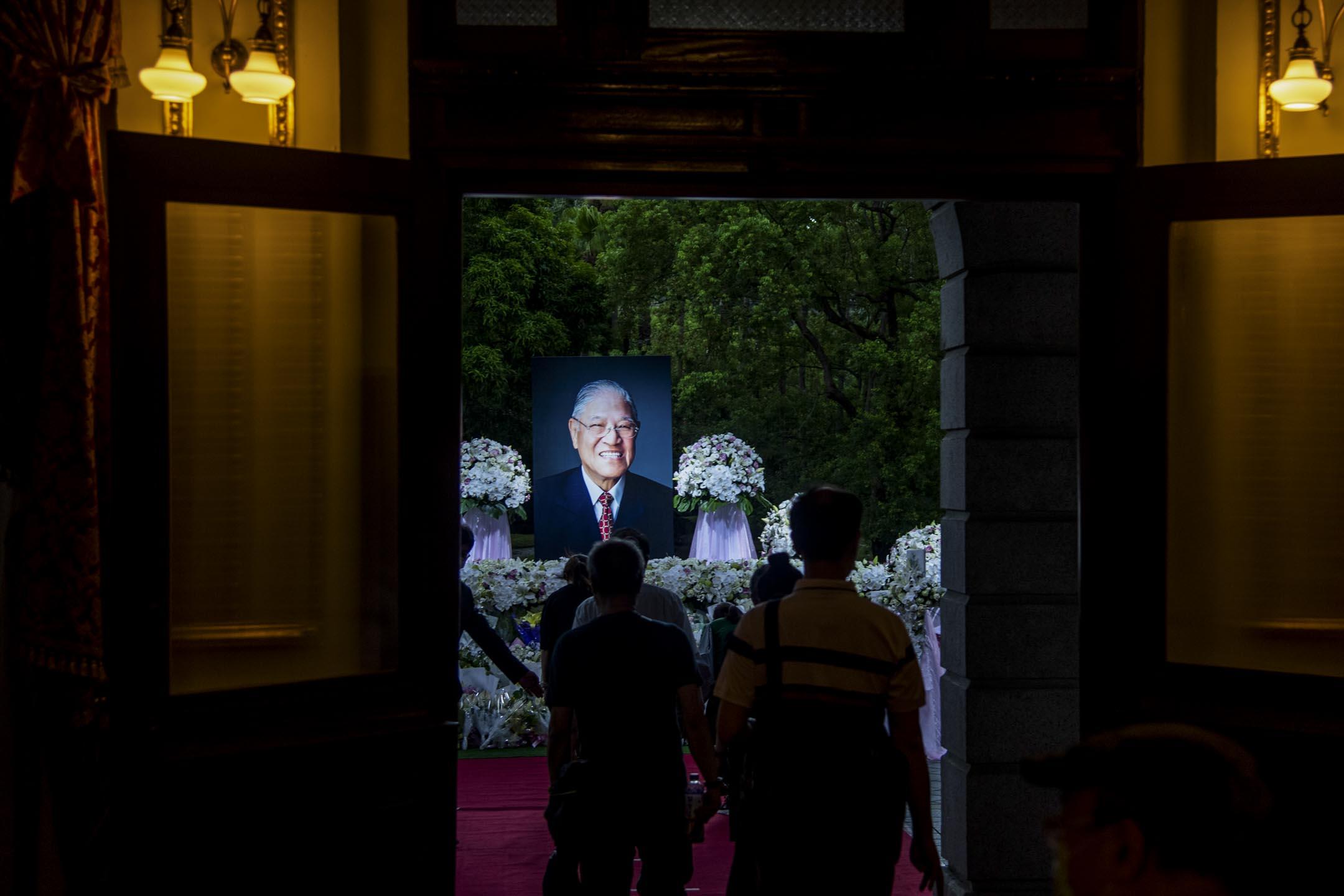 2020年8月1日,台灣已故前總統李登輝的追思會場。 攝:Eason Lam/端傳媒