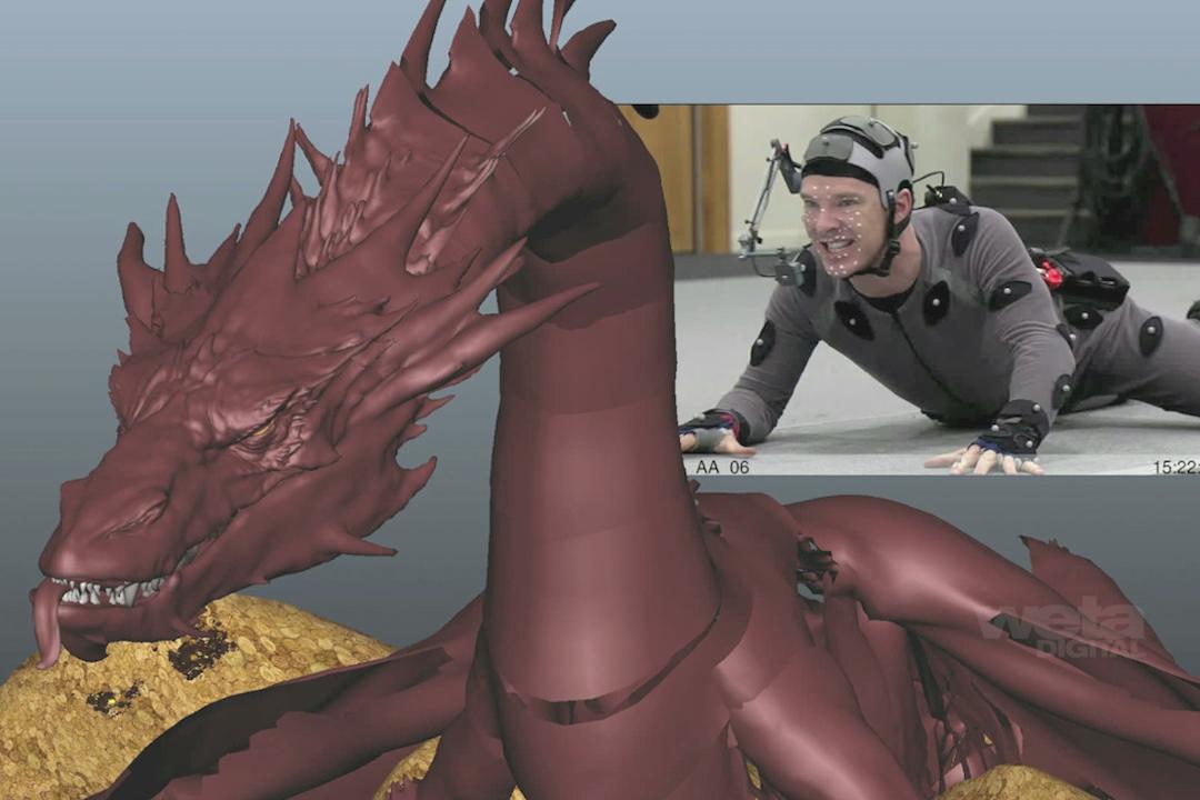 班尼狄甘巴貝治《哈比人:荒谷魔龍》中的巨龍片段