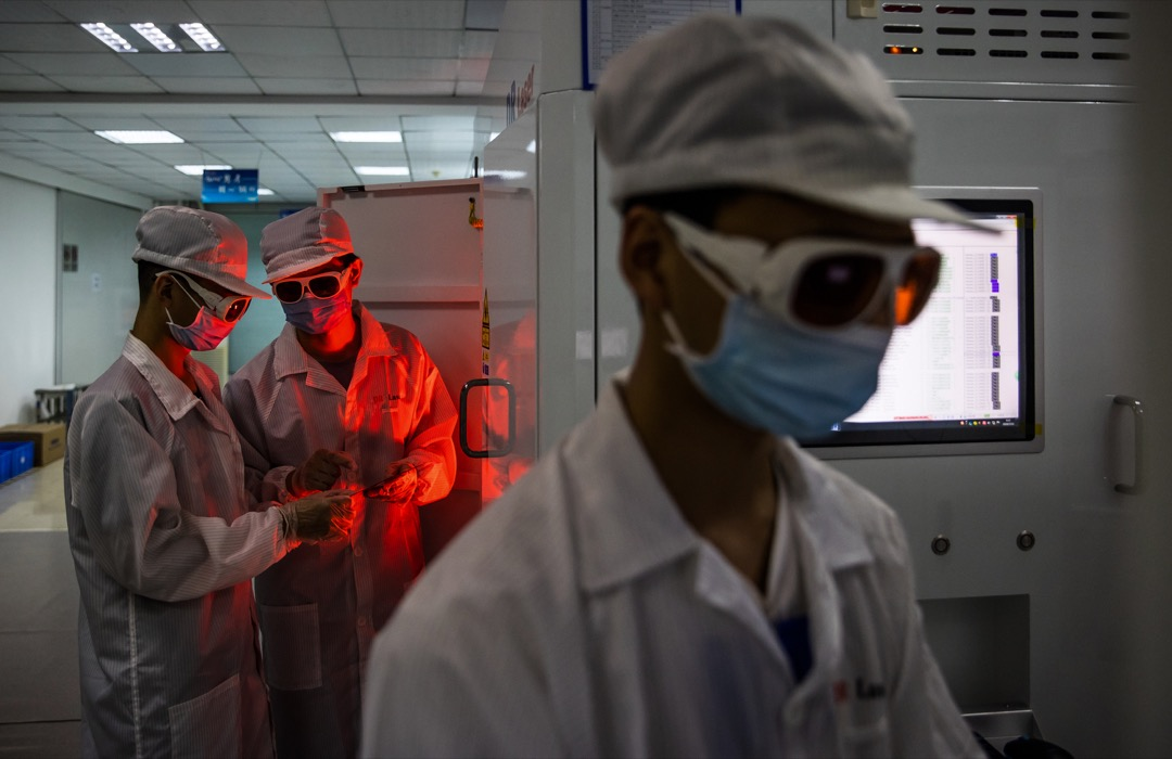 中國武漢的一所工程實驗室。 攝: Costfoto/Barcroft Media via Getty Images