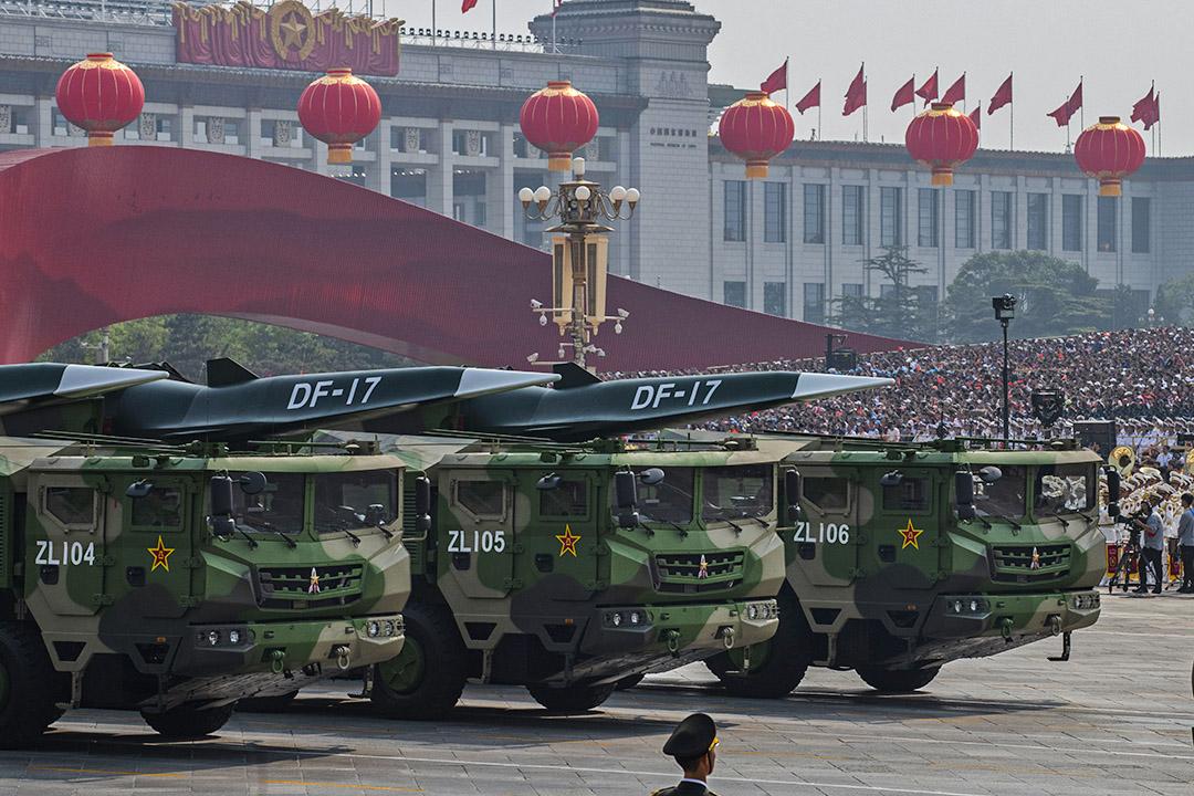2019年10月1日北京,為慶祝中華人民共和國成立70週年,中國北京的天安門廣場的閲兵典禮。