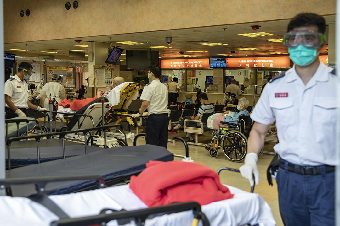 2020年7月31日,伊利沙伯醫院急症室。