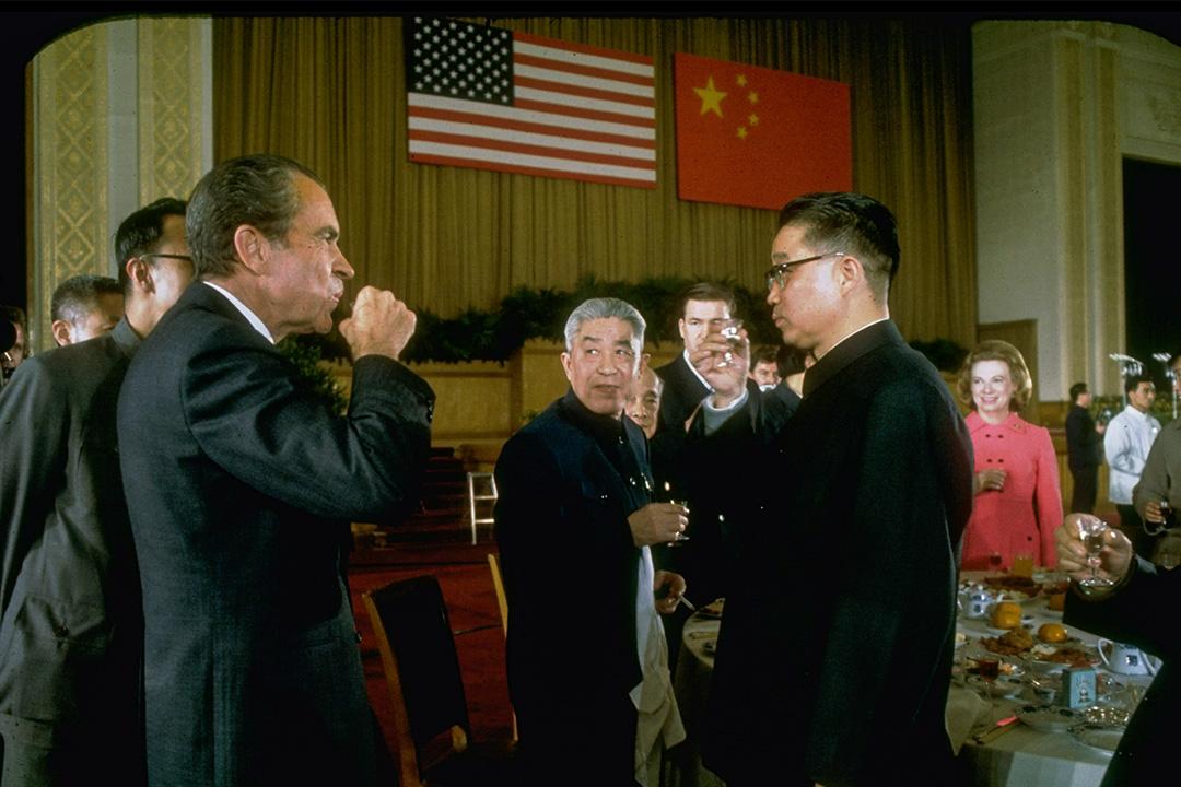 1972年2月北京,美國總統尼克遜訪華期間。