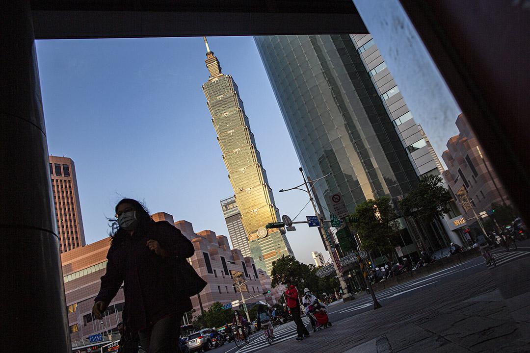 2020年4月19日,台北信義區。