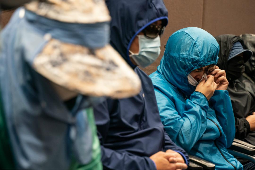 2020年9月12日,12名因涉偷渡台灣遭內地拘留港人的家屬召開記者會。 攝:Anthony Kwan/Getty Images
