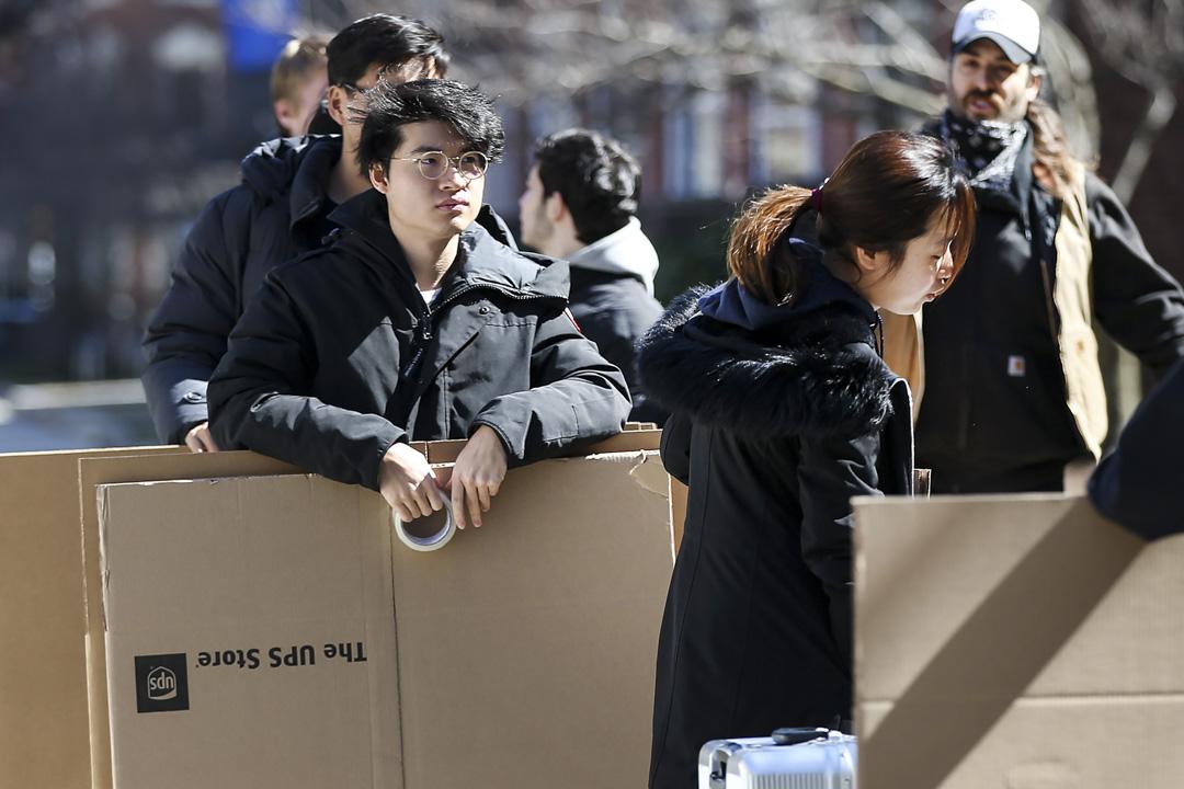 2020年3月18日,美國波士頓大學的留學生被告知需要在當周的週末前搬離學校宿舍。