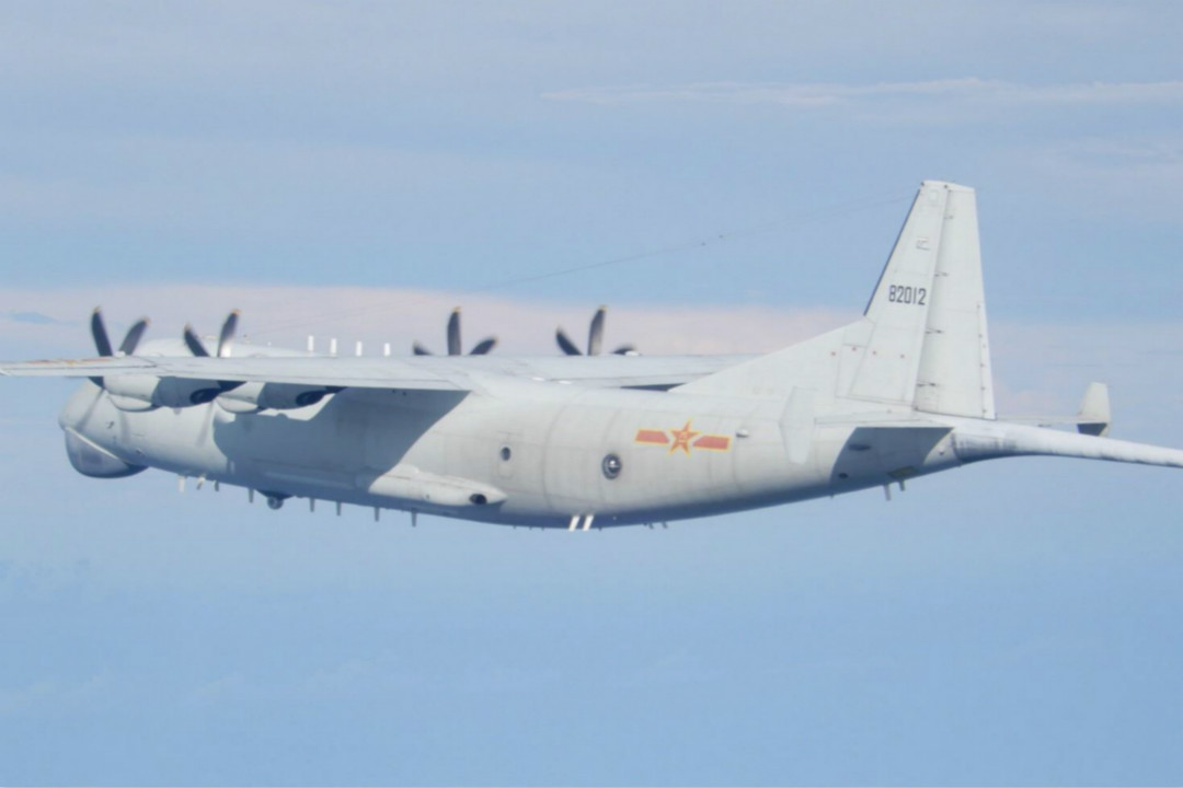 2020年9月19日,運8(Y-8)反潛機圖片。 來自中華民國國防部