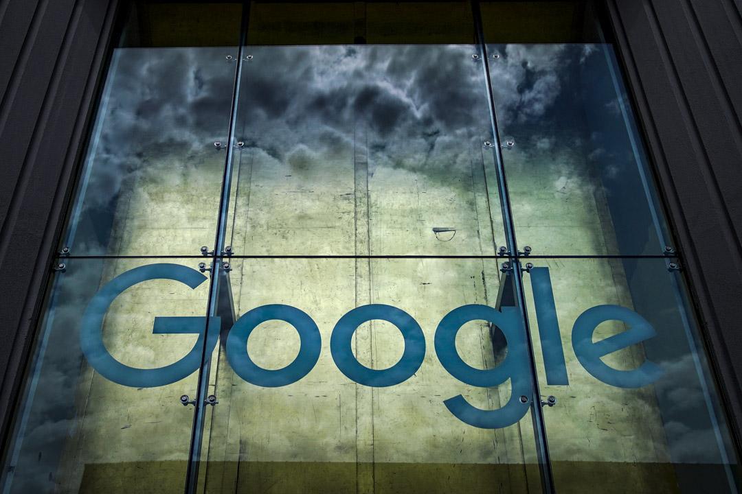 2019年6月3日,紐約市第10大街85號的Google商標。