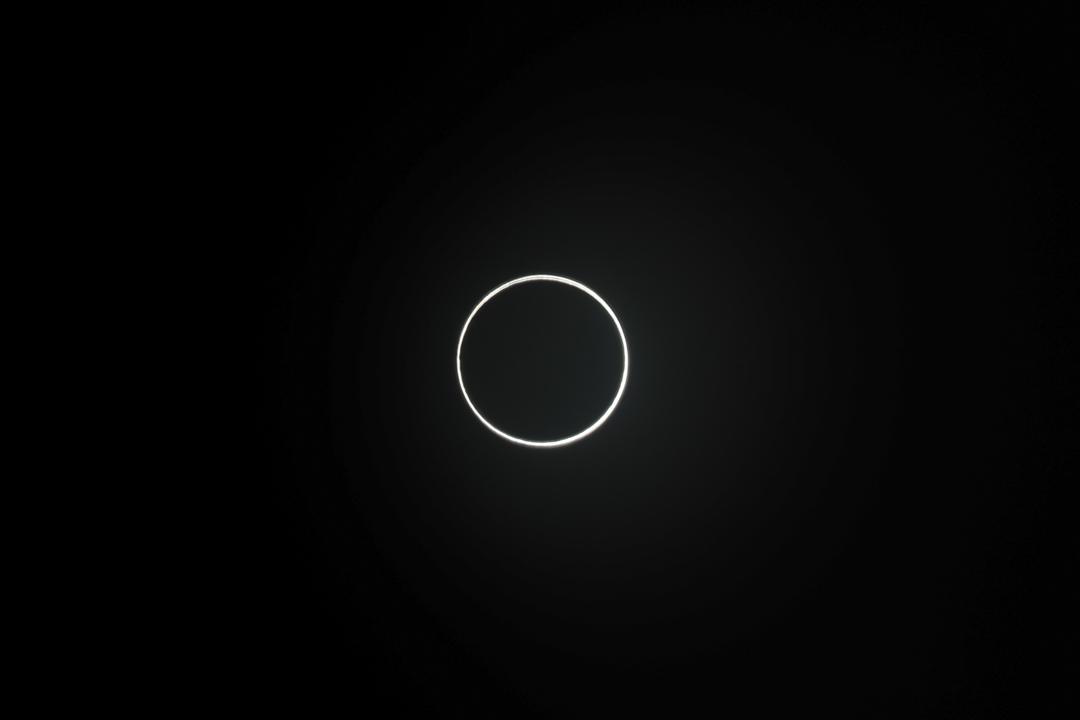 2020年6月21日,廈門出現的日環食。