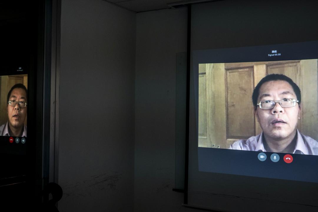 目前旅居美國的人權律師滕彪。