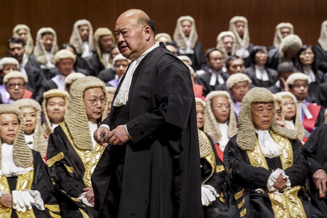 2020年1月13日,終審法院首席法官馬道立於法律年度開啟典禮發表演辭。