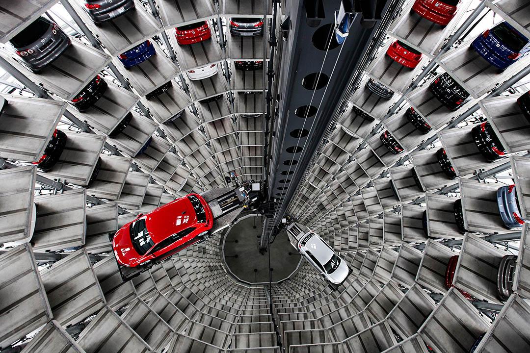 2010年3月11日德國沃爾夫斯堡,德國汽車製造商大眾汽車的車廠。